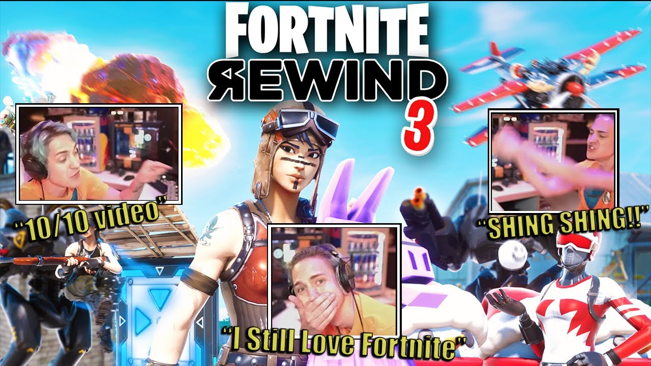 Ninja Reacts to The Fortnite Rewind 3