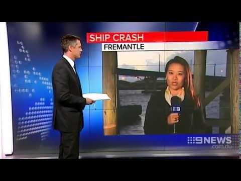 Ship Crash | 9 News Perth
