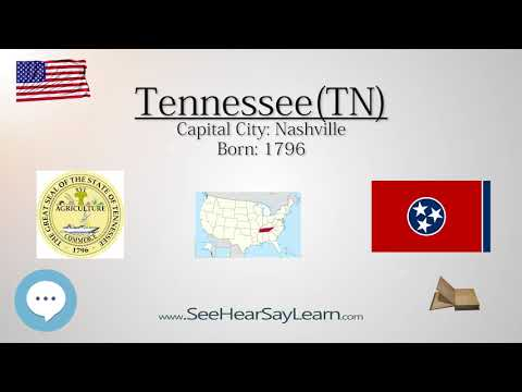 TENNESSEE - The 16th State of America | EYNTK  about The States & Territories ❤️🌎🔊✅