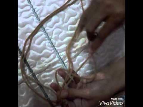 cara membuat tas tali kur motif pelangi 2 warna by azri