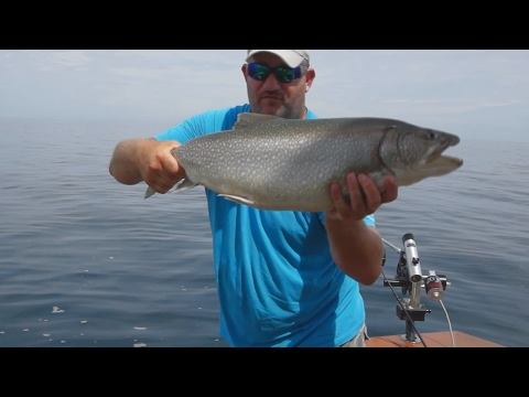 DOWN RIGGING FOR LAKE TROUT ON LAKE ERIE