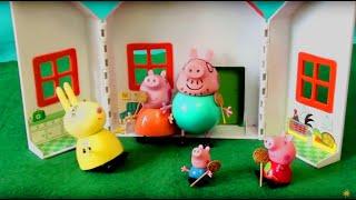 Мультфильм игрушками Свинка Пиги Pig Делаем прививку