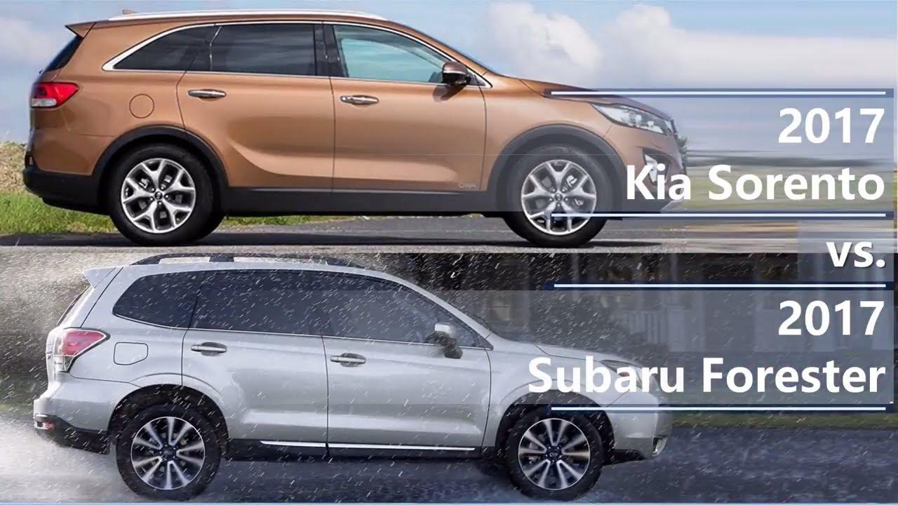 2017 Kia Soo Vs Subaru Forester Technical Comparison