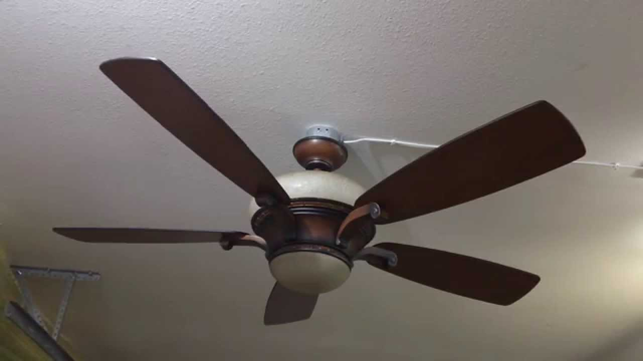 54 Quot Hampton Bay Caswyck Ceiling Fan Youtube