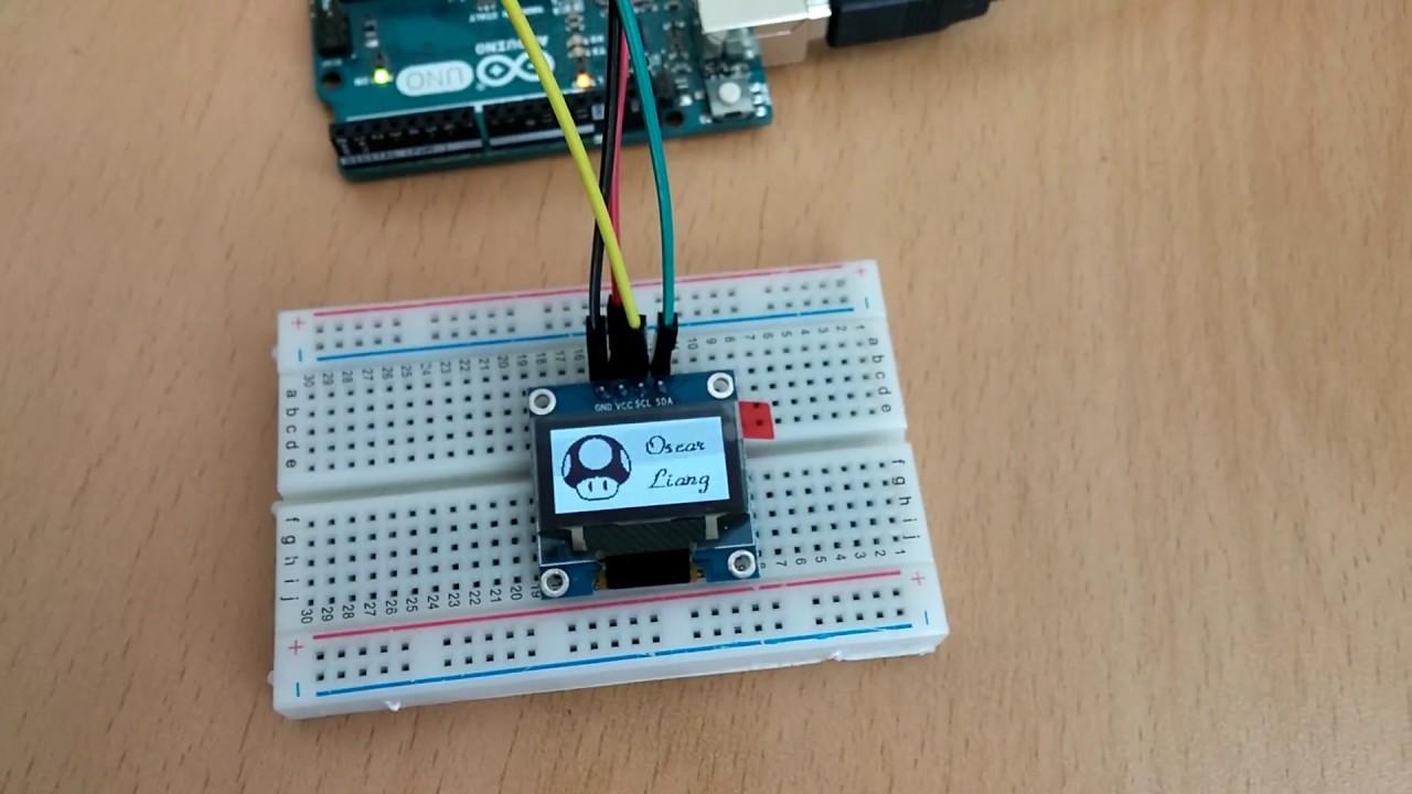 Arduino uno 로 인치 i c oled를 사용해 비트맵 이미지 출력해 보기 youtube
