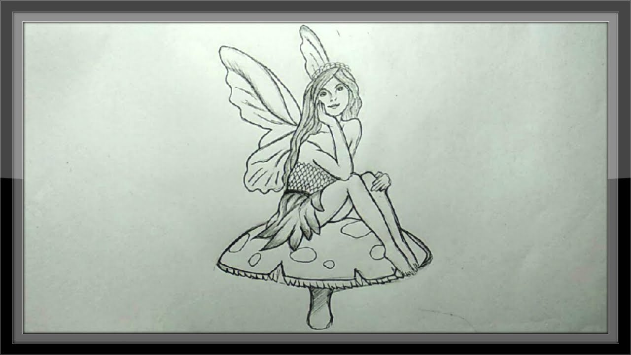 Pencil drawing how to draw a fairy easy