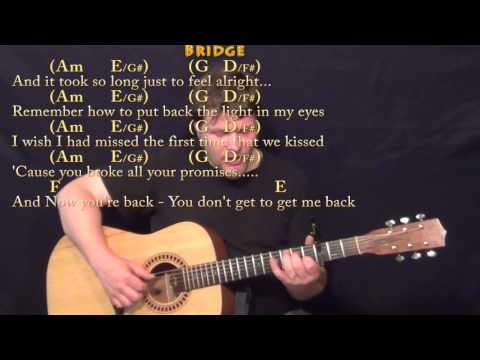 Jar Of Hearts (Christina Perri) Fingerstyle Guitar Cover Lesson With Chords/Lyrics - Capo 3rd