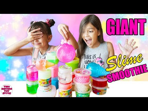 Mixing All Our Slimes! GIANT Kawaii Slime Smoothie - Japanese Slime Haul  スライム
