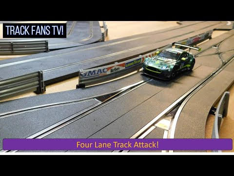Track #64 – Four Lane Scalextric Track