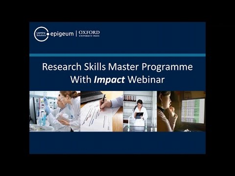 Research Skills Master Programme with Impact: Improving the effectiveness of researchers