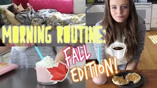 Morning routine: Fall edition! + DIY starbucks cotton candy frap!