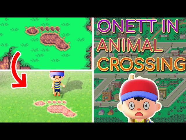 I made Onett from Earthbound in Animal Crossing New Horizons!!