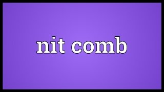 Nit comb Meaning