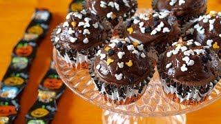 How to Make Chocolate Cupcakes (Using Cute Mickey Halloween Sprinkles) Recipe チョコレートカップケーキ (レシピ)