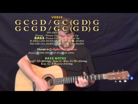 Toes (Zac Brown) Guitar Lesson Chord Chart - Capo 4th