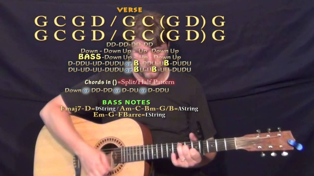 Toes Zac Brown Guitar Lesson Chord Chart Capo 4th Youtube