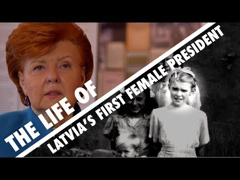 The life of Latvia's first female president