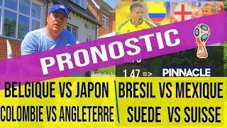 Pronostic Bresil - Mexique,  Colombie - Angleterre, Belgique - Japon, Suede - Suisse,  CDM 2018