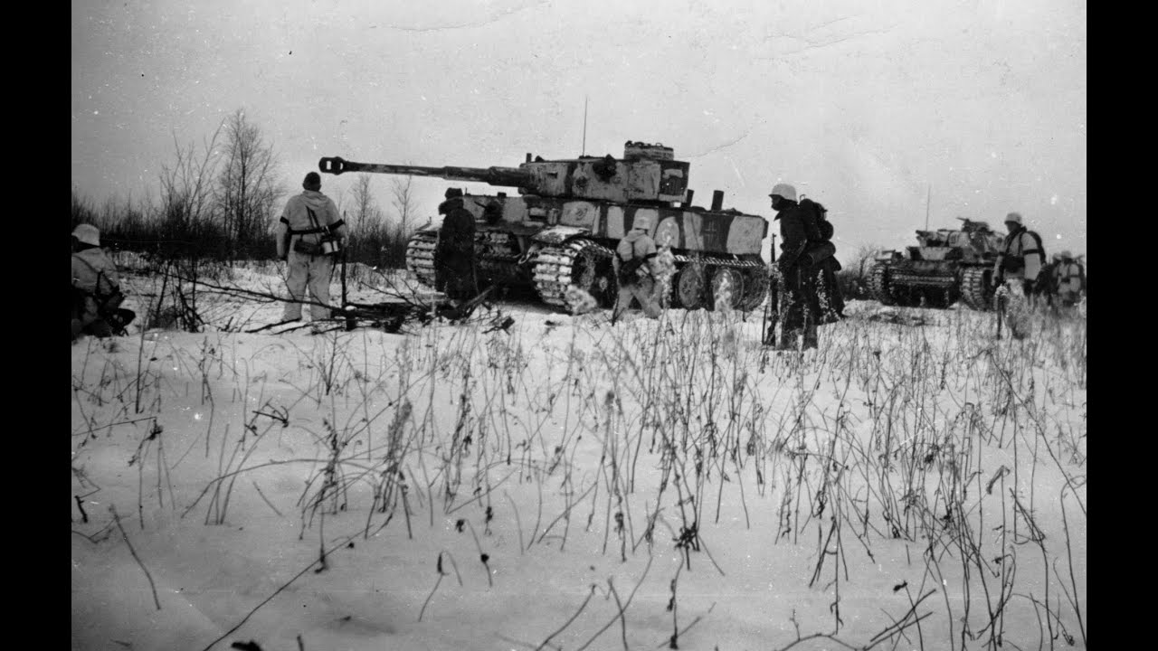 Tiger Tank Winter Camouflage
