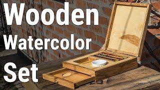 Vintage Wooden Watercolor Set | Винтажный Деревянный Акварельный набор