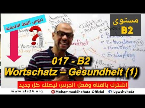 017 - B2 Gesundheit - Wortschatz -1- مواضيع امتحانات اللغة الالمانية