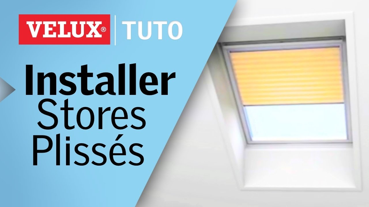 tuto comment installer un store pliss velux r f fhl youtube. Black Bedroom Furniture Sets. Home Design Ideas