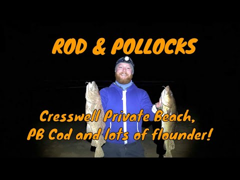 Cresswell Beach Fishing, PB Cod And Lots Of Flounder!
