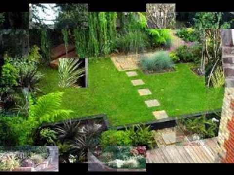 Small garden landscaping ideas - YouTube
