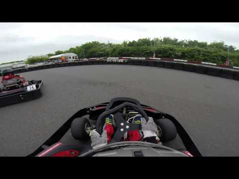 GoPro: kids go karting , eight years old boys having fun go karting 2015