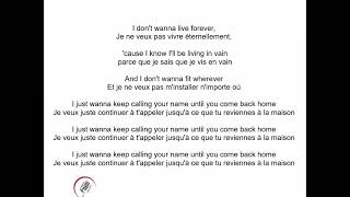 I Don't Wanna Live Forever Zayn Feat. Taylor Swift Paroles, Lyrics, Traduction Fr