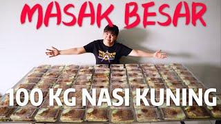 MASAK BESAR NASI KUNING 100 BOX,SAAT NYA BERBAGI !!!