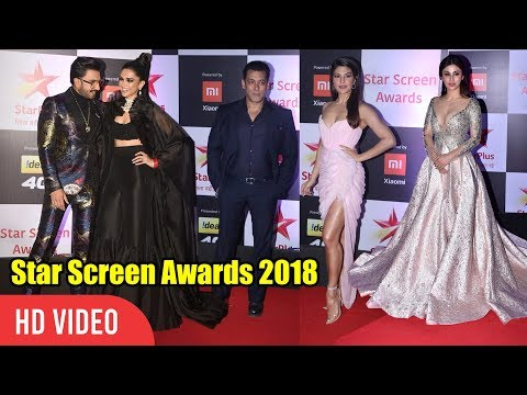 Salman Khan, Deepika Padukone, Ranveer Singh, Rekha, Mouni, Jacqueline at Star Screen Awards 2018