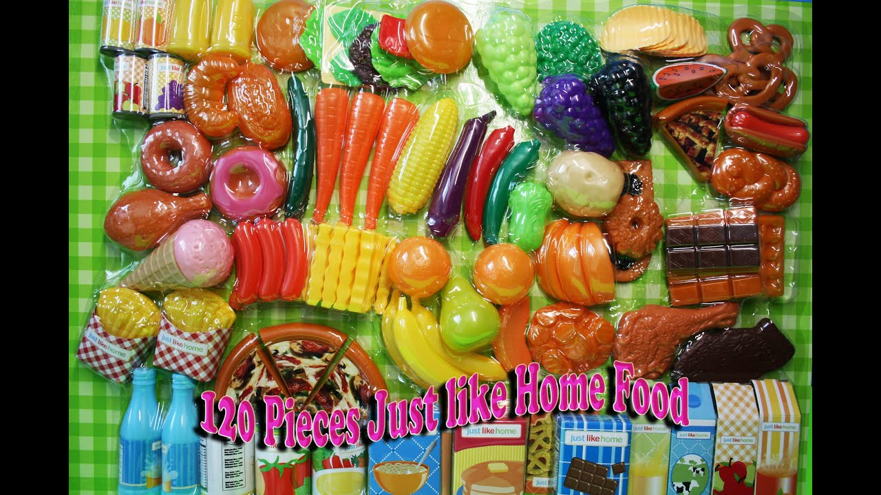 Just Like Home Toy Food : Just like home pieces food meat seafood bakery