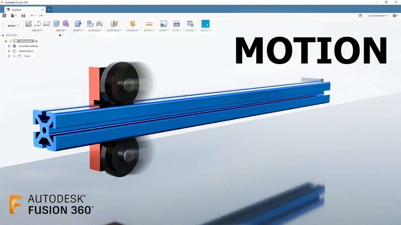 80/20 Roller Wheel & Motion Study — Fusion 360 Tutorial — #LarsLive