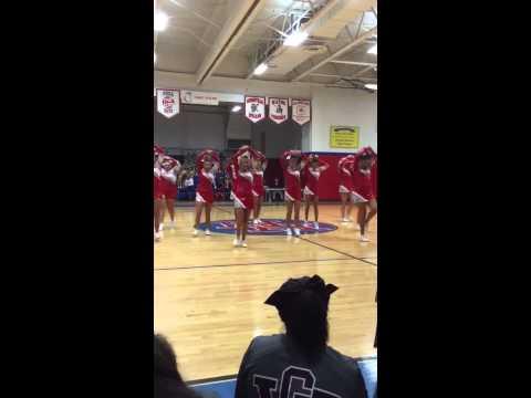 Poca High School cheerleaders 2015 technical cheer