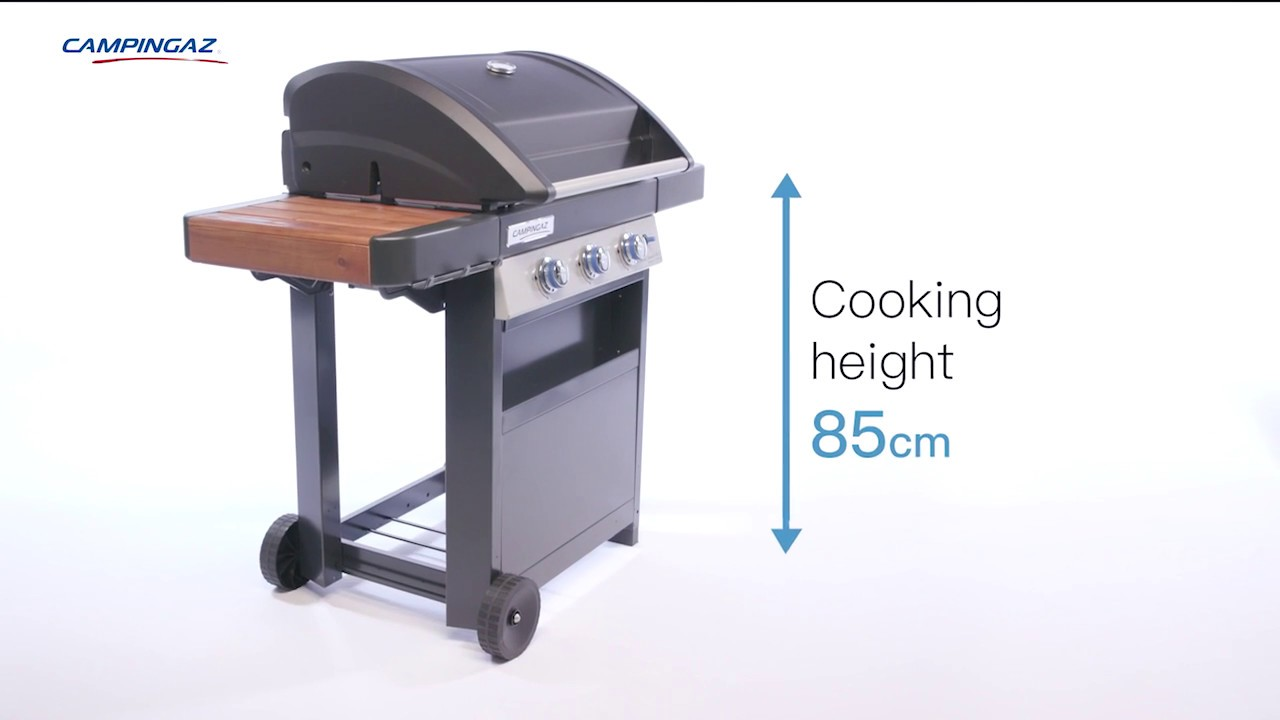 Campingaz 3 Series.Campingaz 3 Series Woody Ld 3 Burner Bbq With Wooden Side Tables
