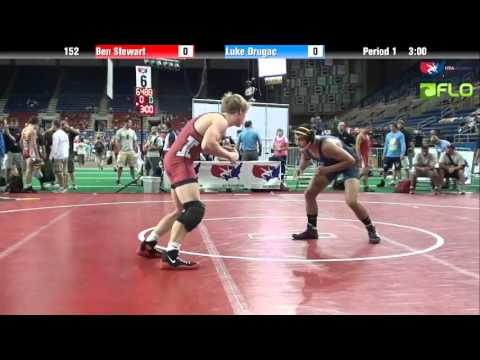 Cadet 152 - Ben Stewart (Indiana) vs. Luke Drugac (New ...
