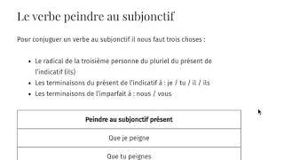 Conjugaison Le Verbe Peindre Fle Niveaux B2 C1 C2