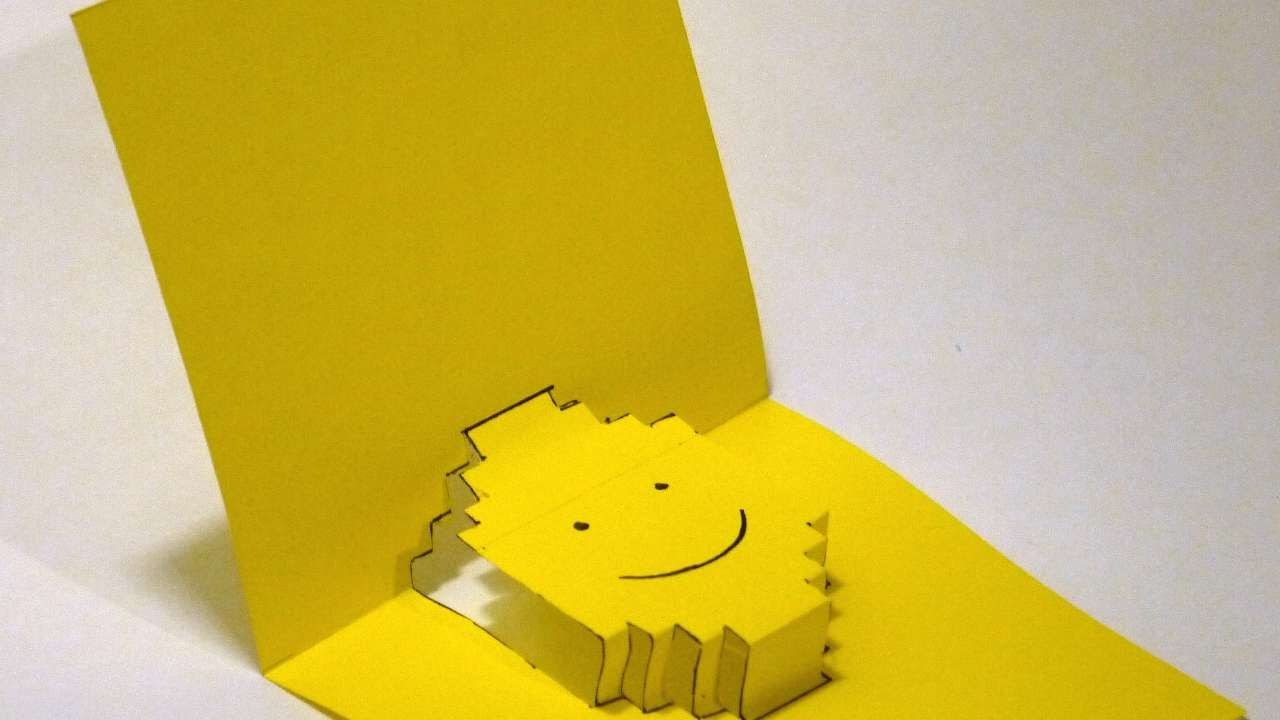 How to make a 3d postcard smiley diy crafts tutorial for Read write think postcard template