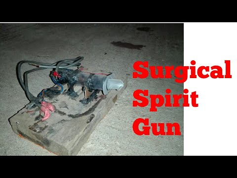 Surgical spirits gun (using high voltage generator)