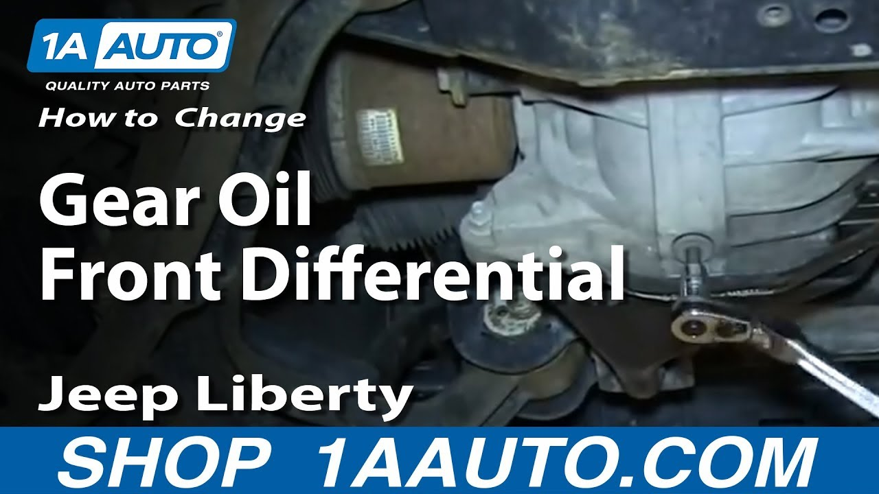 how to service change gear oil front differential 2002