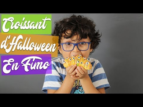 CROISSANT HALLOWEEN TAILLE RÉELLE ⎪FAKE FOOD FIMO
