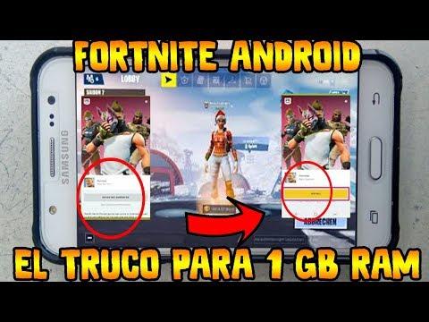 ✔️PONGO A PRUEBA EL TRUCO PARA FORTNITE ANDROID DE 1 GB DE RAM Y PARA NO COMPATIBLES