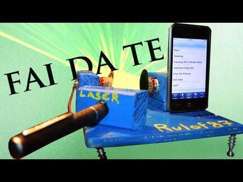 Proiettore laser musicale fai da te youtube for Fai da te youtube