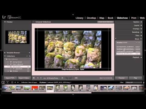 Lightroom CC -  Publish a Slideshow