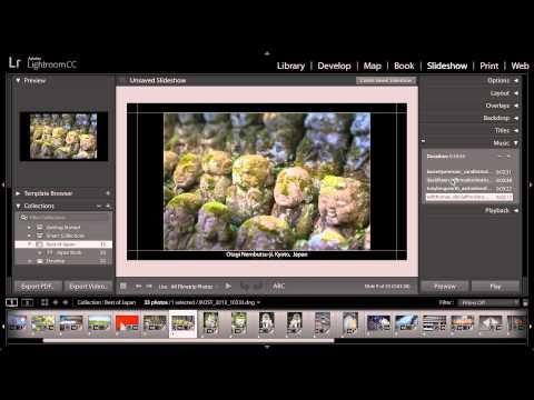 Lightroom CC - Publish a Slideshow