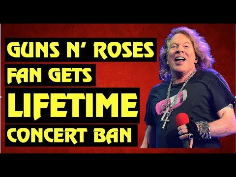 Guns N' Roses Fan Gets Lifetime Ban From Future Concerts, Ozzy Postpones Tour