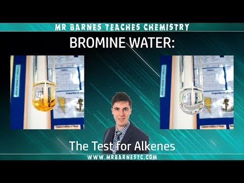 GCSE Separate Chemistry 1-9 : Bromine Water - The Test For Alkenes