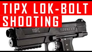 Tippmann Tipx Lok Bolt Installation and shooting Demo  #MCS