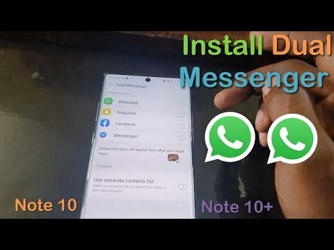 Install Two (2) Versions Of Whatsapp On The Note 10 Or 10 Plus